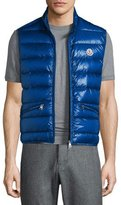 Moncler Gui Lightweight Quilted Puffer Vest, Blue