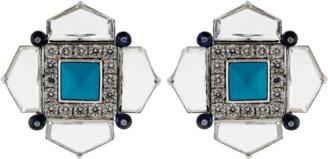 Arunashi Turquoise Sapphire And Diamond Earrings