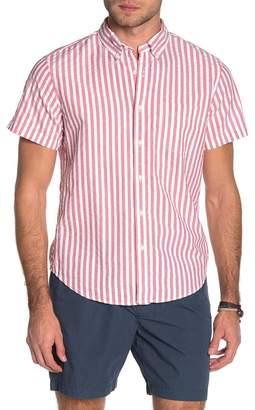 J.Crew J. Crew Wide Seersucker Stripe Print Classic Fit Shirt