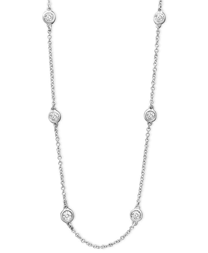 "Effy Trio by Diamond Seven Station 16-18"" (1/2 ct. t.w.) in 14k Gold, White Gold or Rose Gold"