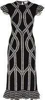 Alexander McQueen intarsia knitted midi dress
