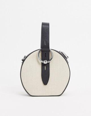 Rebecca Minkoff kate circle bag in light beige