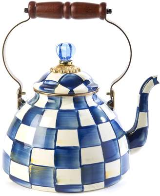 Mackenzie Childs Royal Check Tea Kettle