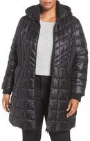 Bernardo Quilted Jacket with Down & PrimaLoft ® Fill (Plus Size)