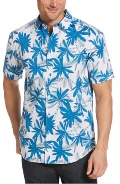Cubavera Men's Stretch Palm-Print Shirt