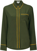 Kenzo piped trim shirt - women - Silk - 34