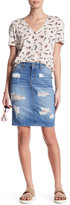 The Kooples Denim Pencil Skirt