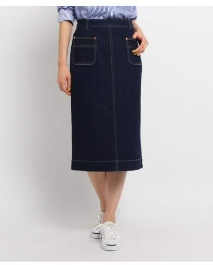 Dessin (デッサン) - Ladies ミモレ丈デニムタイトスカート