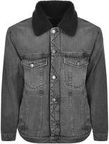 Calvin Klein Denim Sherpa Jacket Grey