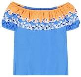 Peter Pilotto Embroidered off-the-shoulder cotton top