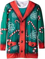 Faux Real Men's Big-Tall Lick My Candy Cane Long Sleeve T-Shirt, Multi