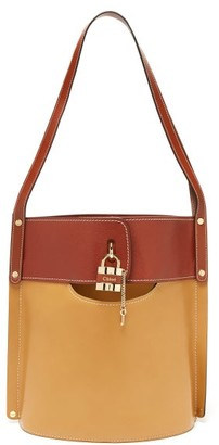 Chloé Aby Large Leather Bucket Bag - Brown