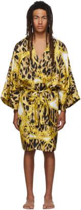 Versace Underwear White and Yellow Animalier Night Robe