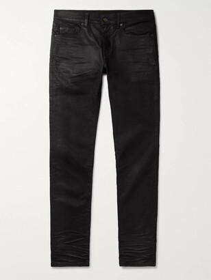 Saint Laurent Skinny-Fit Coated Stretch-Denim Jeans
