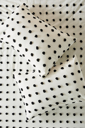 Anthropologie Tufted Makers Shams, Set of 2 By in Black Size S2 qn sham