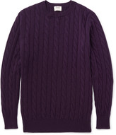 William Lockie - Orwell Cable-knit Cashmere Sweater