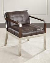 Bernhardt Yannick Leather Tufted Chair