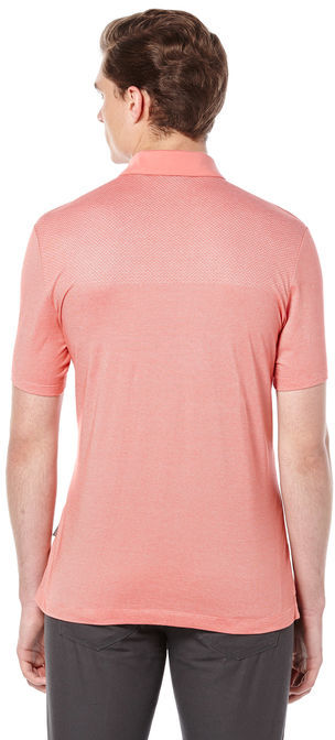 Perry Ellis Short Sleeve Jacquard Placed Polo
