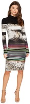 Nicole Miller Gypsy Grunge Striped Jersey Women's Dress