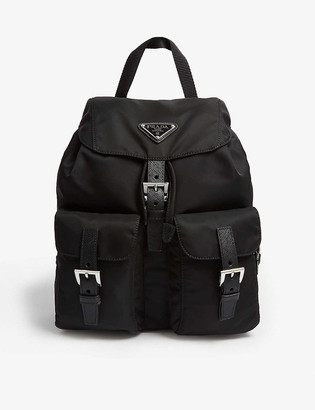 Prada Logo small nylon backpack