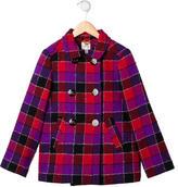 Milly Minis Girls' Checkered Wool Coat