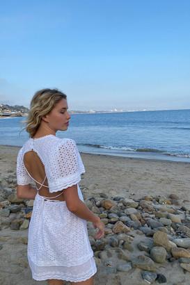 Maia Bergman Caroline Eyelet Cutout Mini Dress