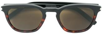 Saint Laurent Eyewear Faded Tortoiseshell Sunglasses