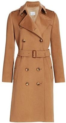 Burberry Kensington Belted Cashmere Coat