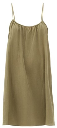Loup Charmant Racerback Organic-cotton Mini Dress - Green