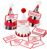 Christmas Entertainment Mini Six-Piece Party Hats & Game Pack