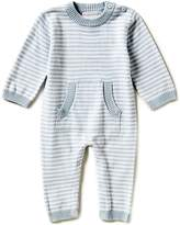 Elegant Baby Baby Boys Newborn-3 Months Long-Sleeve Striped Coverall