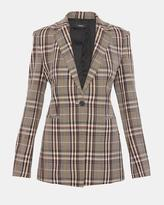 Theory Wool Plaid Power Jacket