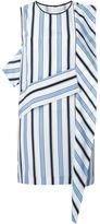MSGM striped panel shift dress