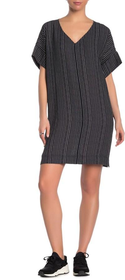 Thumbnail for your product : Madewell Novel Striped V-Neck Shift Dress