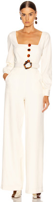 Nicholas Belted Jumpsuit in Winter White | FWRD