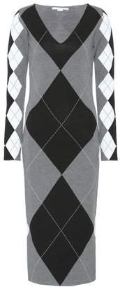 Stella McCartney Argyle wool-blend dress