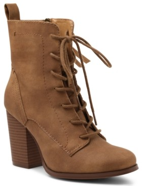 XOXO Magar Lace Up Booties Women's Shoes
