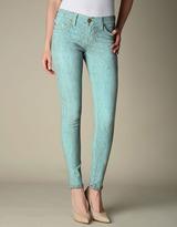 True Religion Womens Halle Crinkle Print Legging - (Crinkle Print Sky Blue)