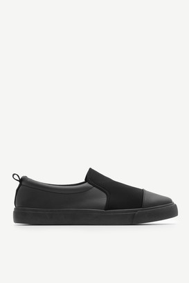 Ardene Faux Leather and Canvas Slip-On Sneakers