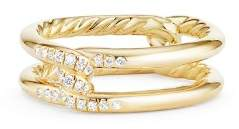 David Yurman Continuance Knot Ring with Diamonds in 18K Gold