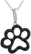 Black Diamond FINE JEWELRY ASPCA Tender Voices & CT. T.W. Color-Enhanced Paw Print Pendant Necklace
