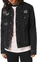 Topman Men's Denim Jacket With Patches