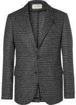 Oliver Spencer Grey Prince Of Wales Checked Wool Blazer