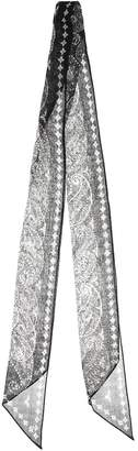 Saint Laurent Paisley-printed wool scarf