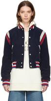 Gucci Blue Corduroy 'Hollywood' Bomber Jacket