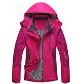 Diamond Candy Sportswear Women's Waterproof Jacket Outdoor raincoat Hooded Softshell 2RXXL