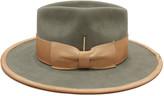 Nick Fouquet Marlin Beaver Felt Fedora Hat w/ Leather Trim