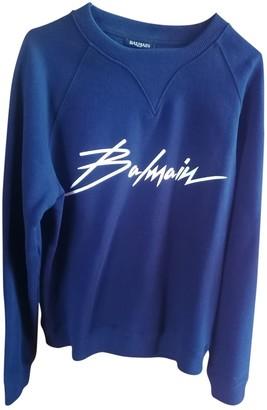 Balmain Blue Cotton Knitwear & Sweatshirts