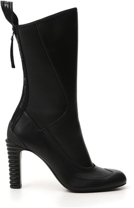 Fendi Panelled Round-Toe Boots