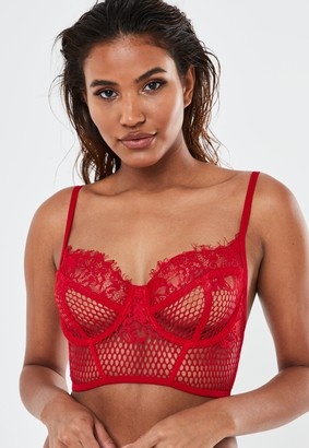 Missguided Red Airtex Mesh Bralet